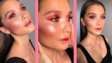 Honneur au maquillage brillant et coloré