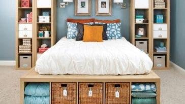 Les meilleures idées de rangement pour optimiser l'espace d'une chambre